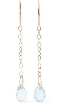 Melissa Joy Manning | 14-karat gold topaz earrings | NET-A-PORTER.COM