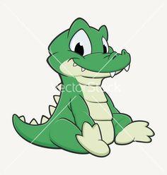 Cartoon crocodile vector 1701258 - by mumut on VectorStock®