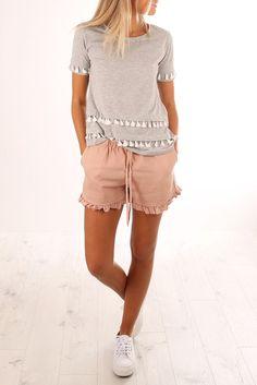 Novalee Tassle Tee Silver Marle   Women's   Jean Jail   Clothes Online   Shoes   Womens Fashion   Mens Fashion