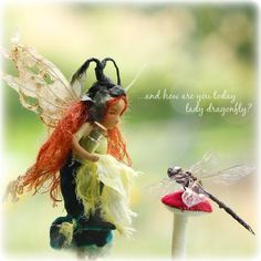 Ginny Green Thumb OOAK art doll fairy Waldorf by Phoebecapelle