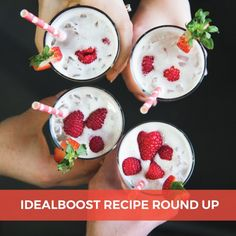 Looking for some fun-n-fruity IdealBoost recipes? We've got you covered! Check out our favs!🍹🍓👉