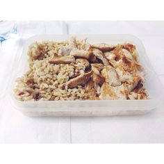 #almoco #lunch #mealpreap #marmita #wholewheatrice #chickenbreast