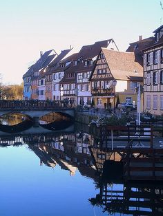 Colmar, Route du Vin, France by Trent Strohm - This is where my Mom's ( Bromm Young) Family is from France Love, France 1, What A Wonderful World, Beautiful World, Beautiful Places, Strasbourg, Alsace, Lorraine, Exotic Places