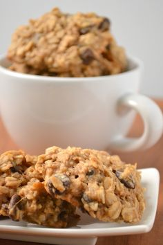 Banana chocolate oatmeal cookies