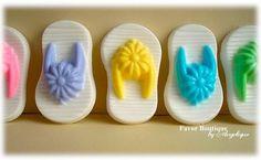 FLIP FLOP SOAPS (10 Two-Color Favors) - Spring Soap Favor, Birthday Party Favor, Wedding Favor, Luau Favor, Beach Party. $16.00, via Etsy.