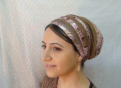 Jewish Head Coverings | head tichel women hair covering unique design flower apron tie jewish