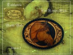 Horse Leather Buckle Belt by ConsciousnessArt on Etsy, $65.00