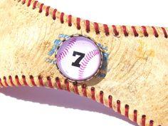 CUSTOM Baseball Bracelet / CUSTOM Bracelet / Baseball Cuff / Repurposed Baseball / Sports Fan Bracelet / Baseball Mom / Player Number