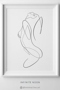 Erotic Art Print, Woman One Line Drawing Printable Art, One Line Sketch Illustration, Nude Abstract Print, Fine Line Contour Drawing, Body Figure Sketch. Minimal Art