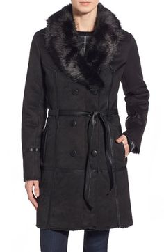Steve Madden Belted Faux Shearling Coat available at #Nordstrom