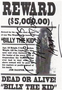 Billy the Kid ,Infamous Old West Outlaw  copy of Wanted Poster