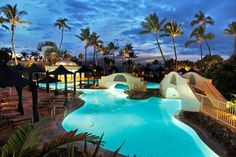 24-hr pool at the Fairmont Kea Lani, Maui - honeymoon destination