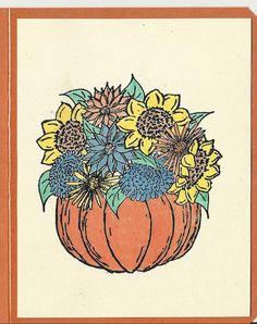 Pumpkin Beauty-Choice of Card or Post Card by inkieannie on Etsy