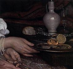 NEER, Eglon van der -Young Lady at Breakfast (detail) 1665