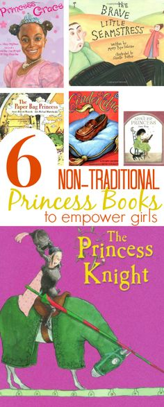 The best NON Traditional princess books to empower our daughters to be strong, proactive, and self-confident. Great list of alternative kids princess books!