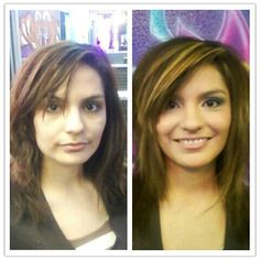Before and after... makeup and hair makes ALL the diffrence