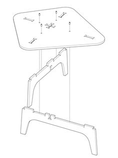 The AtFAB Cat in Bag i Table is a modern digitally fabricated low table with a composition of intricate digital joinery on the table surface. AtFAB is design for digital tools and distributed, local manufacturing.