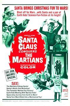 Santa Claus Conquers the Martians (1964, USA) // fantasy science fiction film poster