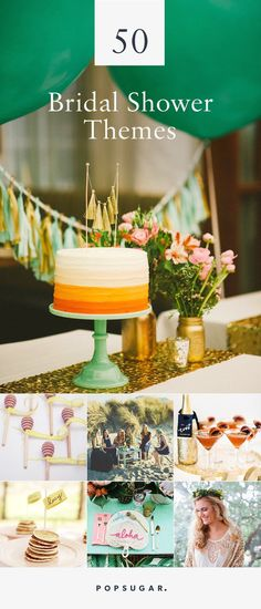 We've scoured our favorite big-day blogs for 50 of the most fun, creative, and pretty party themes, perfect for a bridal shower or bachelorette party.