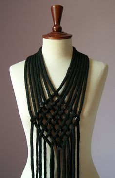 FILIGREE Knitting Beaded Necklace Scarf by Silvia66 on Etsy