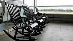 To follow aircraft land and take off is really comfortable when sitting in rocking chairs provided by Kittilä, Oulu, Turku and Vaasa airports in Finland. The New York Times well in love with the airport Finnish rocking chairs. Picture taken by Finavia