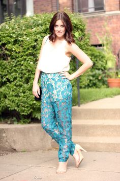 The Brunette One: My Style: Lace Pants