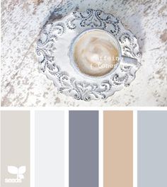 Love, love, love this palette--would be wonderful in our master bedroom/bath or in the dining room.
