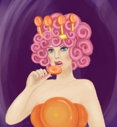 A portrait of Princess Lolly from Candy Land. One of the older versions of the game where she still looked pretty.