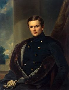 Author: Franz Kruger. Portraiture, Painting, Oil on canvas, 97.5x76 cm. Origin: Germany, 1850. Source of entry: State Museum of Ethnography of the Peoples of the USSR, Leningrad, 1941. Theme: History.