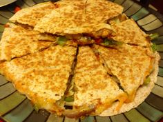 Chicken quesadilla.