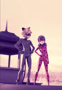 Image de miraculous ladybug, Chat Noir, and couple