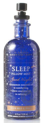 Bath & Body Works Aromatherapy Warm Milk & Honey Sleep Pillow Mist 4 fl oz (118 ml) by Bath & Body Works.