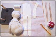 Pflanzenfaerberin: Wichtige Werkzeuge und Hilfsmittel beim Nähen einer Puppe