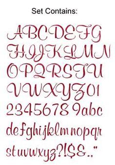 2 inch script letter stencil