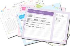 DIY : Fiches de Cuisine et Planificateur de menus | Les Petits Riens Organization Bullet Journal, Journal Organization, Diy Organisation, Diy Agenda, Home Management Binder, Printable Recipe Cards, Flylady, How To Plan, Prints