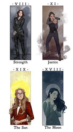 Supergirl Tarot - Alex Danvers - Maggie Sawyer - Kara Danvers - Lena Luthor - Sanvers - Supercorp - Supergirl - Fanart / Art