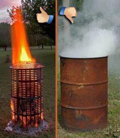 Burn Barrel - Large & Extra Large - 100% Stainless Steel Hi-Temp Burn Barrel
