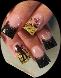 Zombies nail art