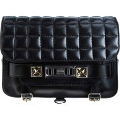 Proenza Schouler Small Quilted Leather PS11 (41,295 MXN) ❤ liked on Polyvore featuring bags, handbags, clutches, purses, torbe, bolsas, proenza schouler handbags, proenza schouler purse, saddle bags and quilted purses