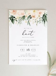 This blush floral Wedding Elopement Reception Invitation template is fully edita… – wedding invitations – Wedding Reception Invitations, Reception Party, Unique Wedding Invitations, Wedding Invitation Templates, Wedding Stationery, Bridal Shower Invitations, Wedding Cards, Diy Wedding, Trendy Wedding