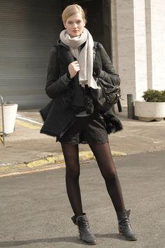 Streetstyle von Topmodel Toni Garrn