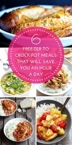 6 Delicious Freezer To Crock-Pot Meals That Will Save You An Hour A Day! - That Vintage Life
