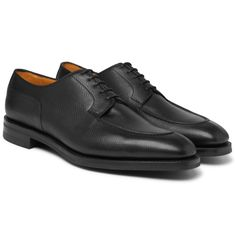 Edward Green Dover Textured-leather Derby Shoes In Black Black Shoes, Men's Shoes, Dress Shoes, Shoes Men, Kingsman Suits, Mens Derby Shoes, Edward Green, Trendy Shoes, Fashion Advice