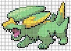 309 Electrike Pokemon Cross Stitch, Perler Beads, Pixel Art, Deviantart, Bead Patterns, Beadwork, Grid, Art Ideas, Blanket