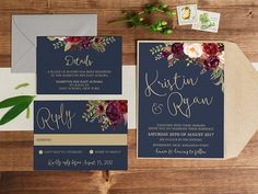 Wedding Invitation Printable Wedding Invitation Wedding