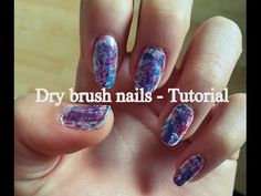 Dry brush colorful nails   Blue - pink - purple   CZ tutorial - http://www.nailtech6.com/dry-brush-colorful-nails-blue-pink-purple-cz-tutorial/