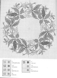 Gallery.ru / Фото #4 - Веночки от Герды Бенгтссон - Mosca Cross Stitch Designs, Cross Stitch Patterns, Cross Stitch Geometric, Cross Stitch Collection, Needle Book, Knitting Charts, Cross Stitch Flowers, Christmas Cross, Filet Crochet
