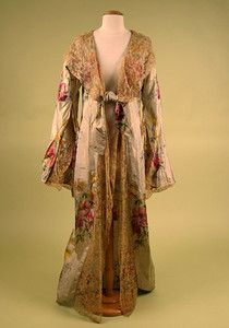Floral Lame Dressing Gown, early 20th Century