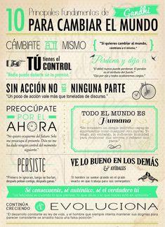 10 principios fundamentales para cambiar el mundo por Gandhi (repineado por @PabloCoraje) #Citas #Frases #Quotes
