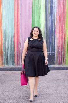 Business Casual with eShakti - Something Gold, Something Blue style blog - eShakti black dress, Lilly Pulitzer blazer, Tory Burch Tote and Corso Como shoes make for a perfect work outfit, girl boss, what to wear to work, little black dress